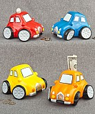 Multicolored Ceramic Car Banks Favors