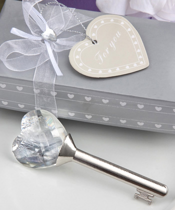 Choice Crystal Collection Key Wedding Favors