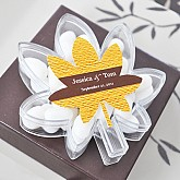"""""""Fall for Love"""" Leaf Acrylic Favor Boxes"""