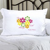 Personalized Flowers and Faith Pillow Case