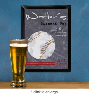 Personalized Baseball Tavern Sign
