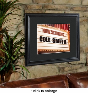 Personalized Theater Marquee Framed Print