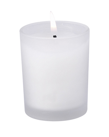 Glass Candle Holder w/Wax; Bulk Packed