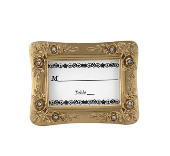 Gold Resin Placecard Frame With Stones
