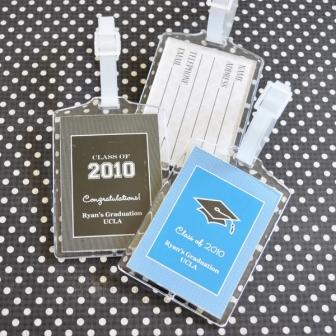 Graduation Acrylic Luggage Tags