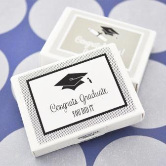 """Hats off to You"" Graduation Gum Boxes"