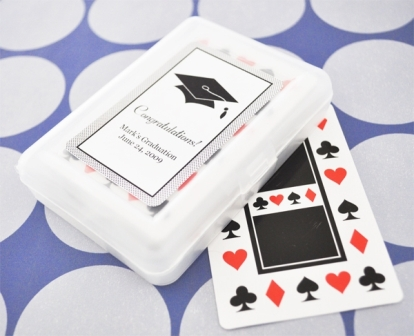 """Hats off to You"" Graduation Playing Cards"