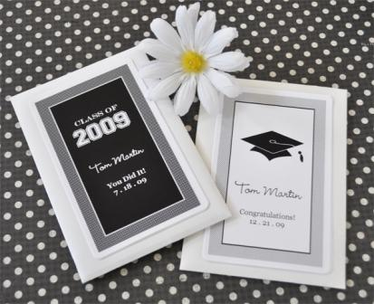 """Hats off to You"" Personalized Graduation Seed Packets"