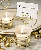 Heart Design Candle Favors/Place Card Holders