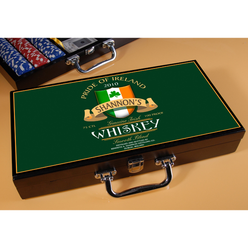 Irish Whiskey Poker Set