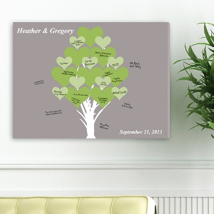 "18""x24"" Signature Canvas - Blooming Hearts"