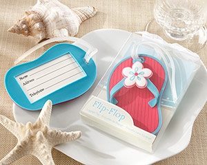 """Flip-Flop"" Beach-Themed Luggage Tag"