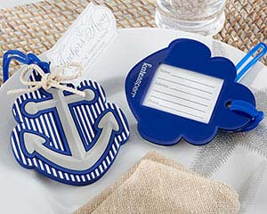 """Anchors Away"" Luggage Tag Destination Wedding Favor"
