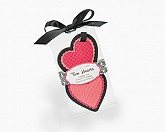 "I Love Hearts ""Two Hearts"" Luggage Tag Heart Theme Wedding Favor"
