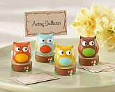"""Whooo's the Cutest"" Baby Owl Place Card/Photo Holder (Set of Four Assorted)"