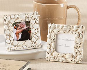 """Coastal Views"" Shell-Covered Photo Frame"