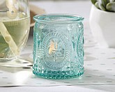 """VINTAGE"" BLUE GLASS TEALIGHT HOLDER Set of 4"