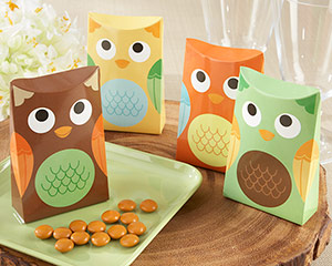 """Whooo's Happy?"" Owl Favor Box (Set of 24)"