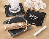 """Sip and Scribble"" Chalkboard Set of 4 Coasters"