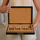 PREMIUM CIGAR HUMIDOR WITH HYDROMETER AND HUMIDIFIER