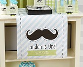 "PERSONALIZED TABLE RUNNER-KATE'S ""LITTLE MAN"" COLLECTION MUSTACHE"