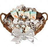 "12"" LARGE WINTER EDITION GOURMET GIFT BASKET"