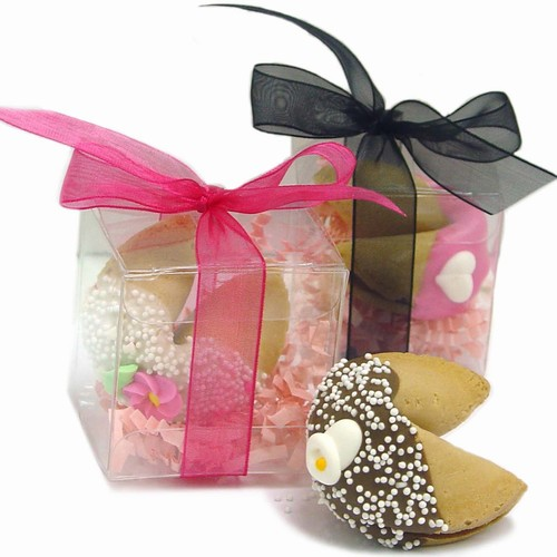 Wedding Fortune Cookies -Individually Wrapped & Gift Boxed with Ribbon