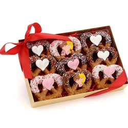 Valentine Chocolate Pretzel Twists, Box of 9