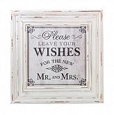 Wishes Sign Frame (White)