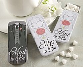 """""""Mint to Be"""" Bride and Groom Slide Mint Tins with Heart Mints"""