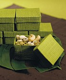 Organic Green 2 Piece Woven Favor Boxes