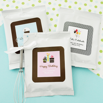 Personalized Birthday Cappuccino Mix + Optional Heart Whisk