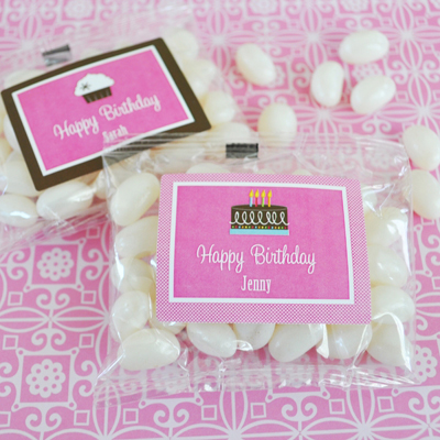 Personalized Birthday Jelly Bean Packs