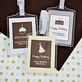 Personalized Birthday Luggage Tags