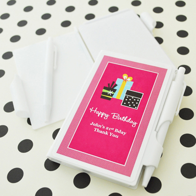 Personalized Birthday Notebook Favors