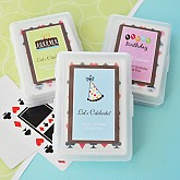 Personalized Birthday Playing Cards