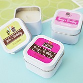 Personalized Birthday Square Candle Tins