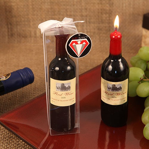 """FINE WINE"" WINE BOTTLE SHAPED CANDLE FAVOR"