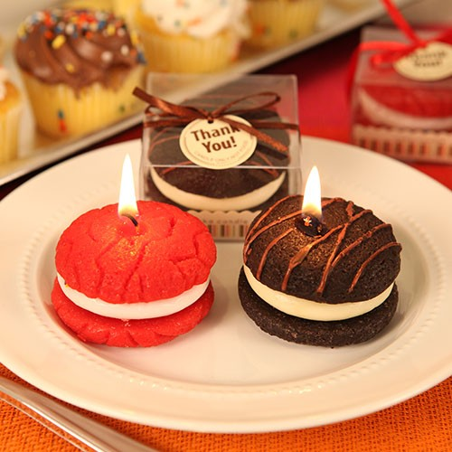 """MUST-HAVE MACAROON"" MACAROON SHAPED CANDLE FAVORS (ASSORTED)"