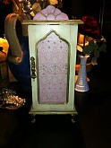 Hand Painted French Inspired Pink Jewelry Box Armoire