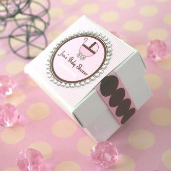 Rhinestone Border Baby Theme Tags & Labels (24 pcs)