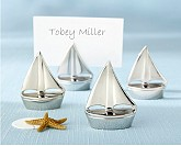 """Shining Sails"" Silver Place Card Holders (Set of Four)"