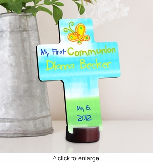 Sunshine and Butterflies First Communion Cross