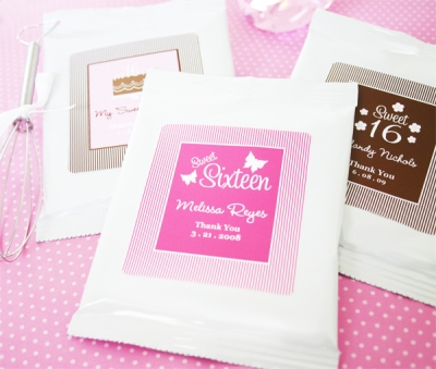 Sweet Sixteen (or 15) Personalized Hot Cocoa + Optional Heart Whisk