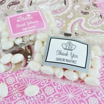 Sweet Sixteen (or 15) Personalized Jelly Bean Packs