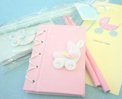 """Thanks for Strolling By!"" Baby Carriage Notebook Gift Set"