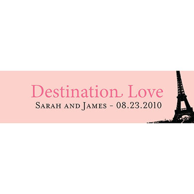 DESTINATION LOVE - EIFFEL TOWER CARD pack of 48