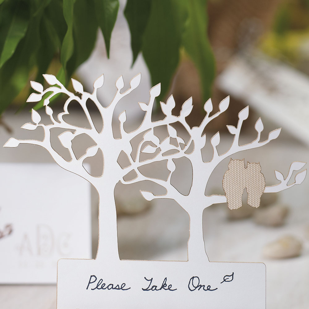 LASER EXPRESSIONS TREE SILHOUETTE WITH OWLS DIE CUT CARD