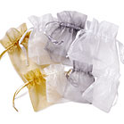 LARGE SHEER RECTANGULAR ORGANZA BAGS