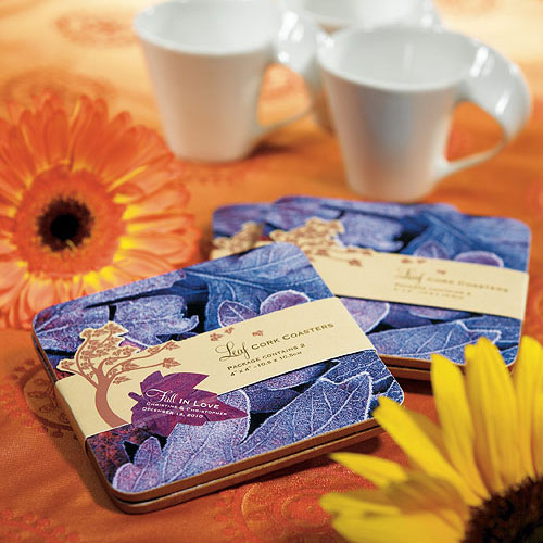 """FALL IN LOVE"" COASTER GIFT SET FAVOR"